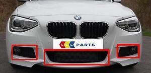 Nuevo-Original-BMW-1-F20-F21-12-15-PARACHOQUES-DELANTERO-M-Sport-parrilla-inferior-Conjunto-De-Tres
