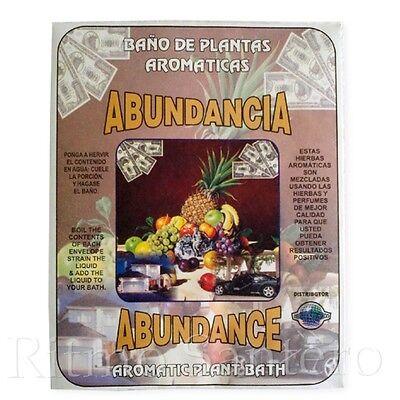 SPIRITUAL PLANT BATH: ABUNDANCE - ABUNDANCIA Herb Bano Despojo Limpia Santeria