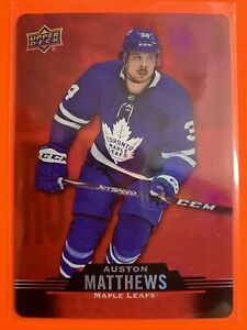2020-21 Upper Deck Tim Hortons Red DieCut #DC-19 Auston Matthews Toronto