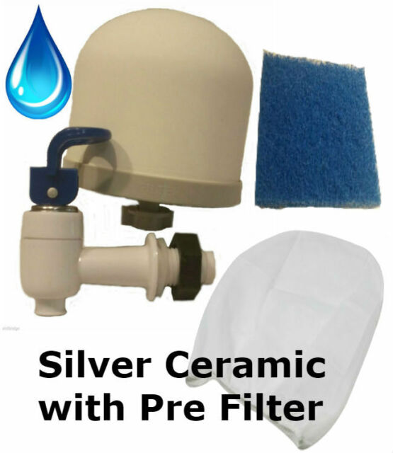 Silver Impregnated//Charcoal 4-10 in Candle Replacement Ceramic Water Filters