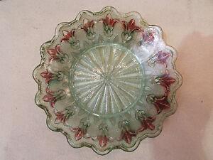 Ancienne Coupelle En Verre Moulé Epoque 1900 Fleur De Lys Coloré 7pvlwhmy-08004047-653255001