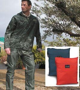 Result-Negro-Azul-Rojo-Amarillo-Chaqueta-Impermeable-amp-Traje-Pantalon-con-Bolso