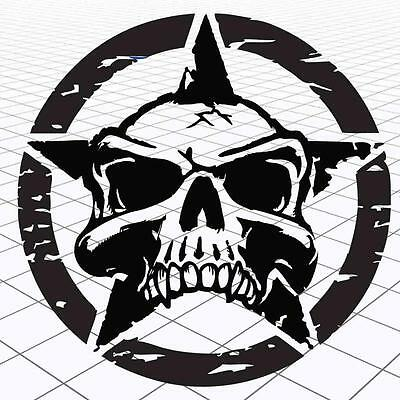 """Army Jeep Worn Distressed Star Vinyl Graphic Stickers 10"""" Pick Color 2"""