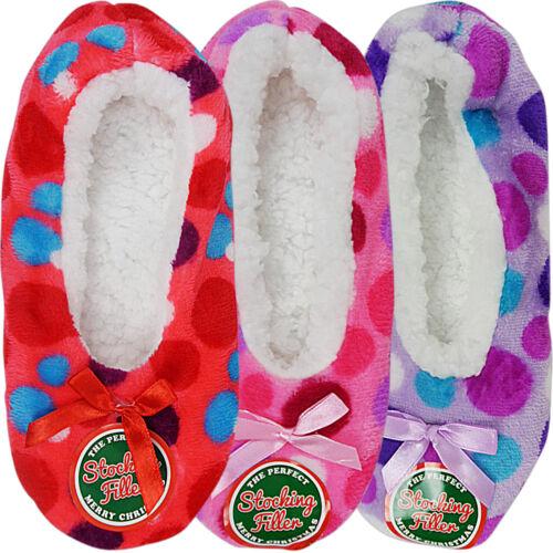 NUOVA linea donna Grip Foderato in Pile Inverno Caldo Comfort Indoor Pantofole Calzini Letto
