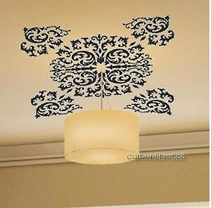 Classic-Vine-Flowers-Ceilings-Window-Wall-Stickers-Mural-Art-Decals-Light-Decors
