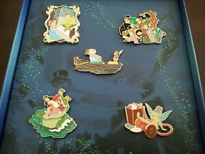 Disney-Peter-Pan-Limited-Edition-Collector-Pin-Set-Only-250-Sets-In-the-World