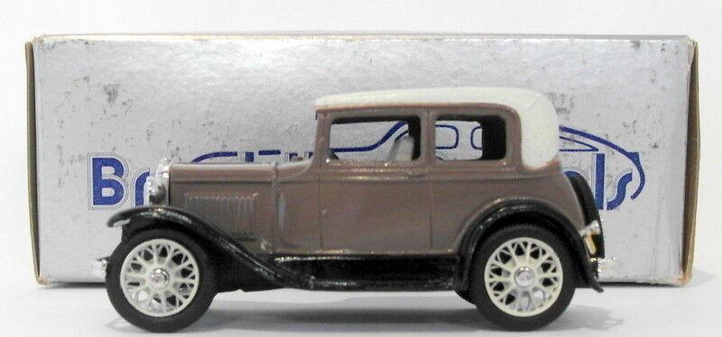 BROOKLIN 143 scale brk3 002a  1930 Ford modellolo A Victoria MEDIUM Marronee