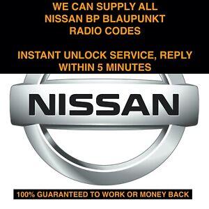 INSTANT-ALL-NISSAN-BLAUPUNKT-BP-SERIES-RADIO-CODE-UNLOCK-SERVICE-MICRA-NOTE