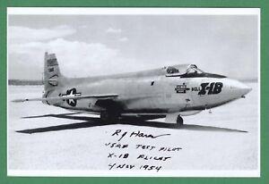 Sammeln & Seltenes Verantwortlich Richard Harer Leine Usaf Test Pilot X-1b Flight Unterzeichnet 4x6 Foto E17434 Transport