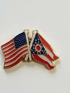 USA Flag Canada Flag Lapel Hat Pin American Canadian Tie Tac FAST USA SHIPPING