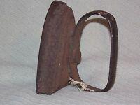 Old Antique Cast Iron Flat Iron Sad Iron with Handle