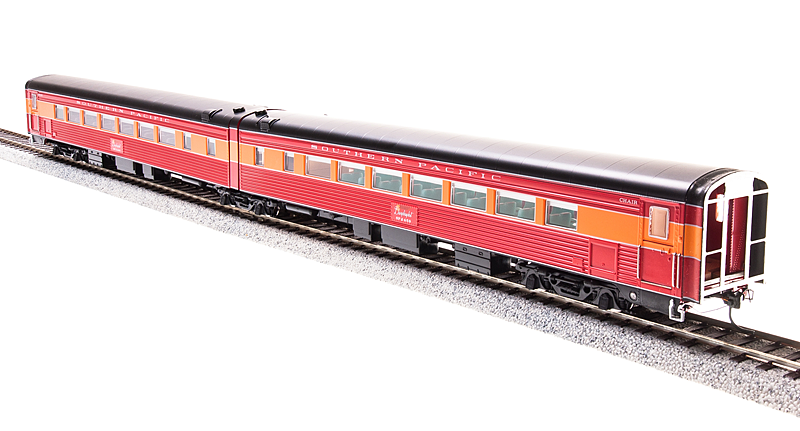 HO Scale - BROADWAY LIMITED 1765 SOUTHERN PACIFIC Articulated Chair Cars LIGHTED