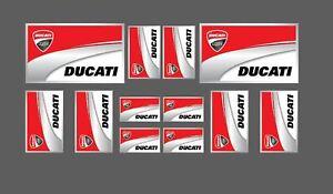 Details Zu Set 12 Aufkleber Ducati Corse Scuderia Motorradhelm
