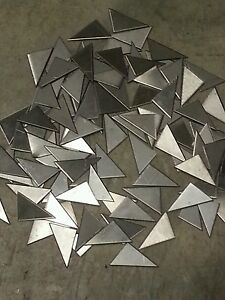 "pieces 2 x 2 /"" 24 gage Plate flat metal 304 Stainless steel weld gusset 30"