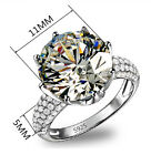 1PC Woman White Sapphire Silver Filled Wedding Bridal Gift Ring Size 6-9