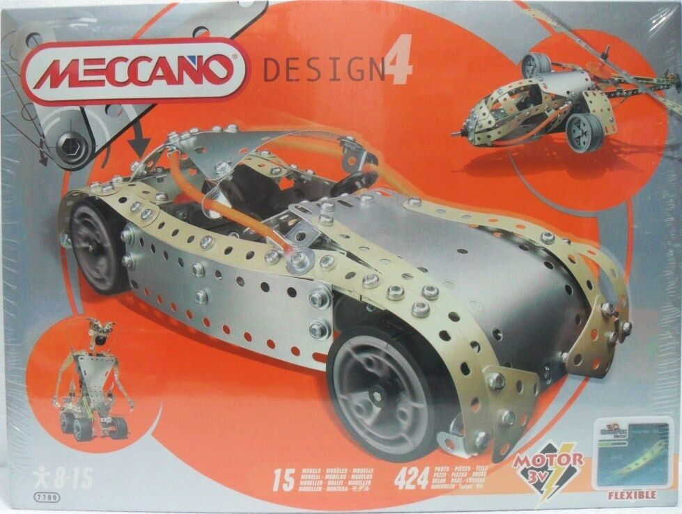 MECCANO DESIGN 4 cod. 84 7700 per imparare a costruire 15 diversi modelli