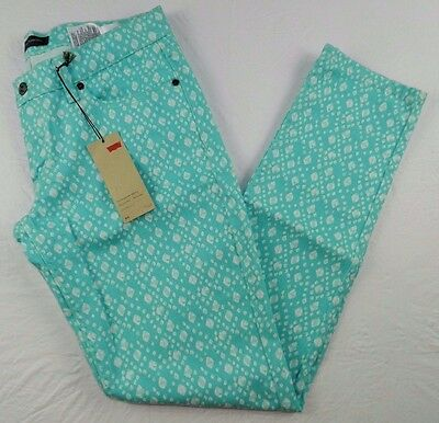 new WOMEN'S PANTS = LEVIS 524 skinny teal jeans = SIZE 11 MEDIUM = hs11