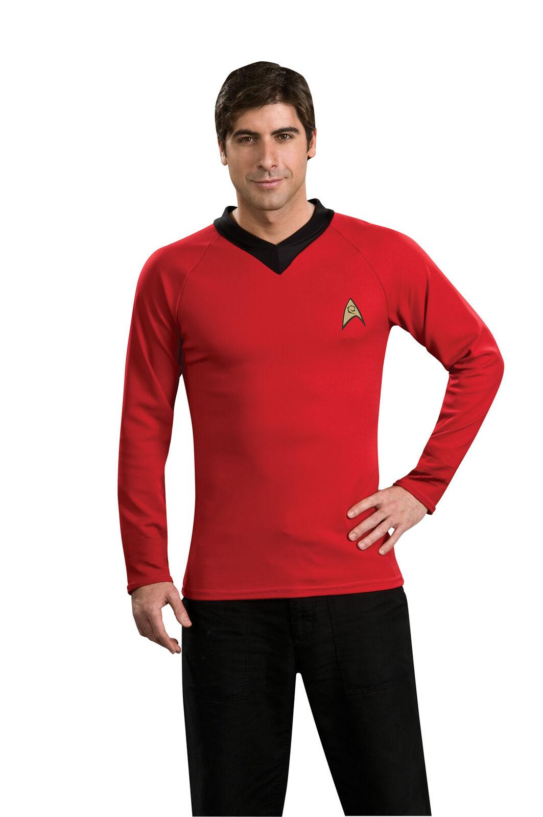 STAR TREK CAPTAIN KIRK CLASSIC RED SHIRT ADULT MENS COSTUME Halloween Party