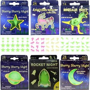 Glow-in-the-Dark-Stars-Planets-Moons-Dinosaurs-Unicorns-Ceiling-Wall-Stickers