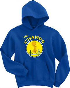 Golden State Warriors Steph Curry Kevin Durant 2018 The Champs HOODED SWEATSHIRT   eBay