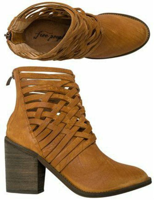 FREE People Carrera Braided Distressed braun Stiefel Stiefelie 8 or 38 NEW  198