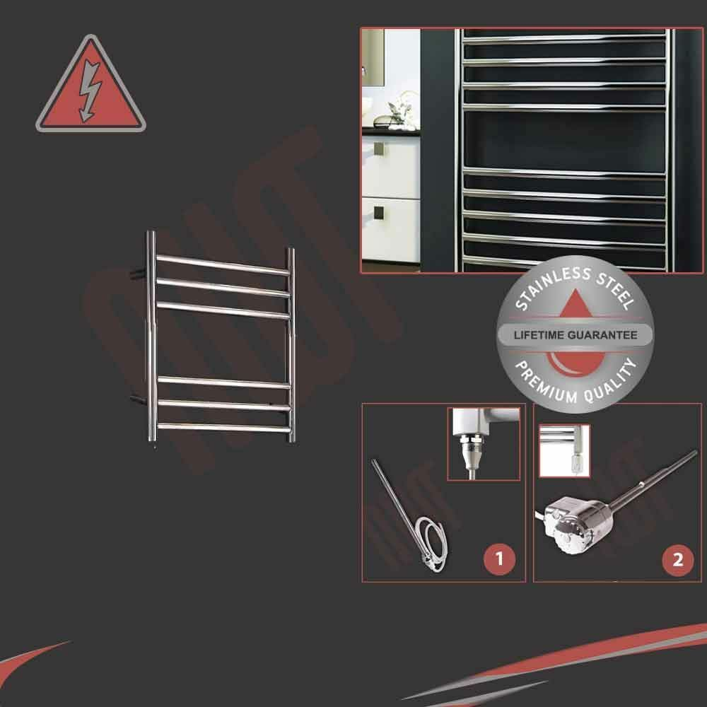 350mm (W) x 430mm (H) Electric 150W Acero Toallero de Acero 150W Inoxidable Pulido precargada f98d9c