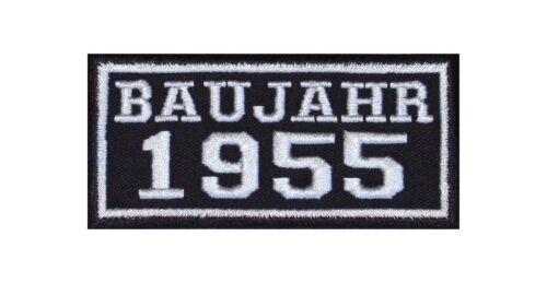 Anno di costruzione 1955 Biker Patch ricamate anni numero anno di nascita ROCKER MOTO MC BJ
