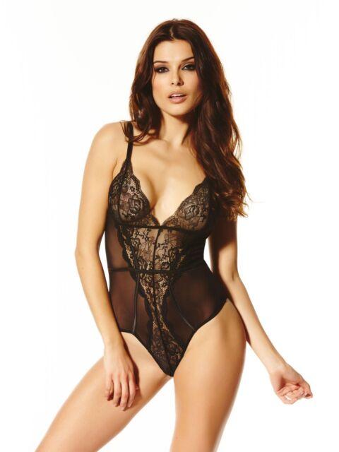 Ann Summers Womens Alexandra Body Black Triangle Cups Sexy Lingerie Underwear
