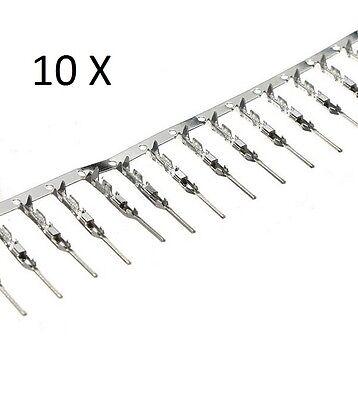 10 CONTATTI DUPONT MASCHIO connettore 2.54mm presa Arduino cavo spina pc 2,5 M