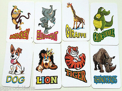 ANIMENTAL CARDS Animal Zoo Mental Magic Trick Set Prediction Picture Pocket Kid