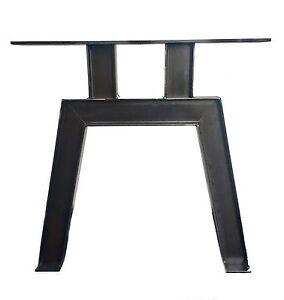 2 Stück Tischbein Stahl Design Tischkufen Stützfuss Tischgestell T