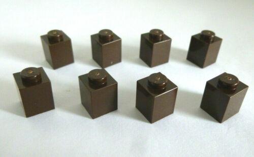 8 x LEGO® 3005 Basissteine,Grundbausteine 1x1 dunkelbraun neu.