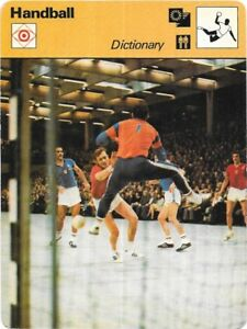 1978 Sportscaster Card Handball Dictionary # 31-13 Nrmint/mint Olympics Cards Sports Trading Cards Be Friendly In Use
