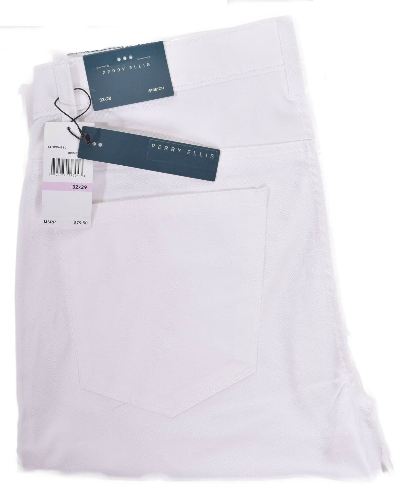 Perry Ellis Pants Mens  Casual White Stretch Trousers Choose Size