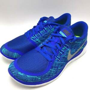 b0b65d964390 Nike FREE 5.0 Print Men s Running Shoes Blue Silver-Blue-White ...