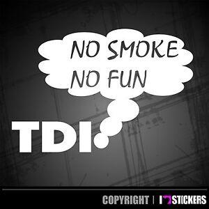 Auto Aufkleber No Smoke No Fun Diesel Tdi Turbo Tuning Sticker Rat