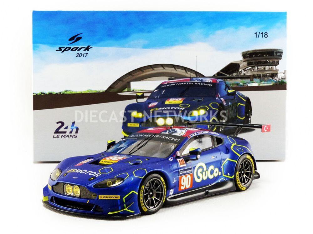 gran selección y entrega rápida Spark Aston Aston Aston Martin Vantage LMGTE Am Le Mans 2017 escala  90 1 18  Nueva Versión   todos los bienes son especiales