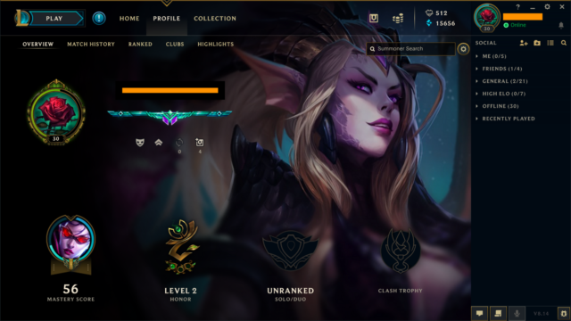 League of Legends Account LOL⎪EUW Unranked Level 30⎪54 ...