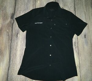 Women-039-s-Cannondale-Snap-Front-Short-Sleeve-Cycling-Shirt-Jersey-M-Black