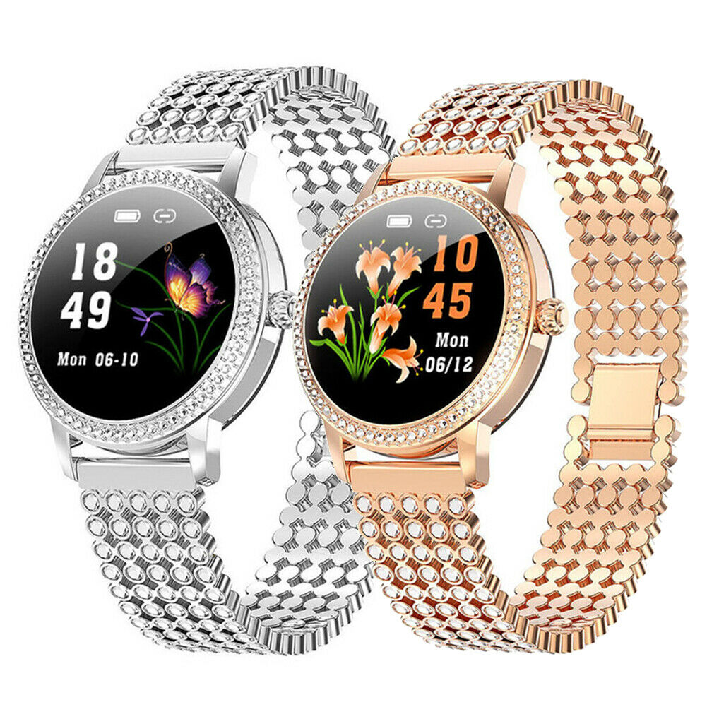 Heart Rate Monitor Smart Watch Waterproof Women Bracelet Luxury Ladies Wristband