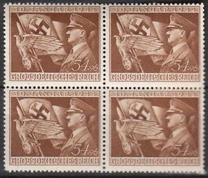 Stamp-Germany-Mi-865-Sc-B252-Block-WII-3rd-Reich-Occupation-Adolf-AH-Flag-MNG