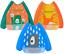 3 Pack Sleeved Bibs Waterproof Babies Feeding Bibs with Long Sleeves Washable