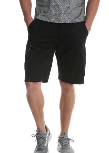 72309e5e06 Men's Wrangler Black Cargo Short Relaxed Fit Hits At Knee Flat Front Choose  Size