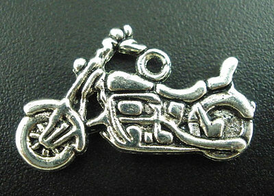 Packet of 10 x Antique Silver Tibetan 26mm Charms Pendants ZX06050 - - Charming Beads Truck