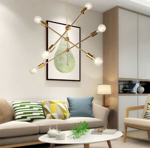 Modern Geometric Line Light Iron Pendant Lamp Ceiling Light Chandelier Fixtures Ebay