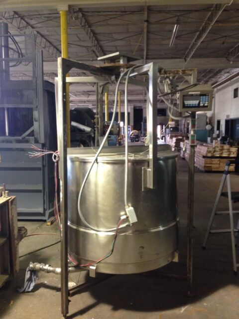 Stainless Steel Food Grade Tank W/Tronix Scale Approx. 300 Gal. Used Good Shape