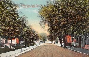 BATH-PA-Pennsylvania-WALNUT-STREET-SCENE-Residential-Homes-c1910-039-s-Postcard