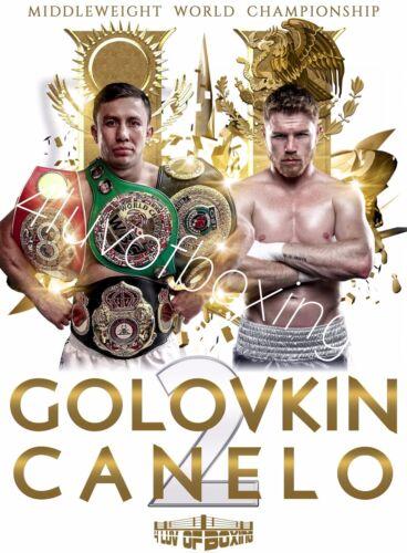 Saul Alvarez vs Gennady Golovkin II 24x36 WH Poster 4LUVofBOXING New Canelo GGG