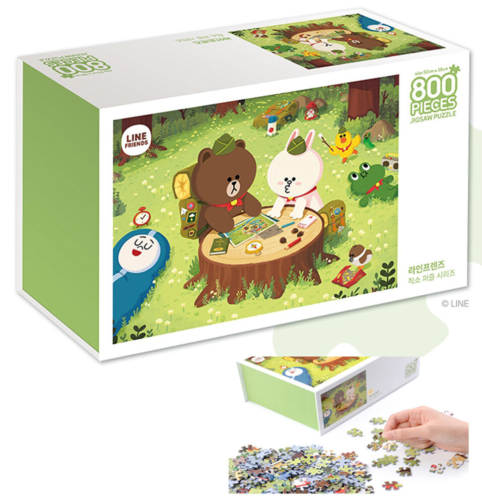 LINE Friends Camping Jigsaw Puzzle 800pcs Hobbyhorse Puzzles Collection Game Set