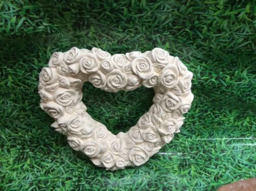 LATEX AND FIBREGLASS MOULD HEART OF ROSES 30CM TALL ORNAMENT MOULD